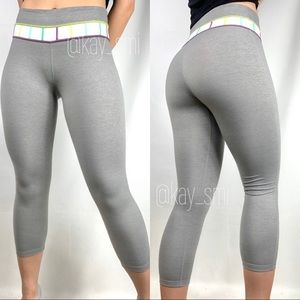 Lululemon Gray Wunder Under Groove Leggings 21""